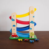 Wooden Cascading Cars Set