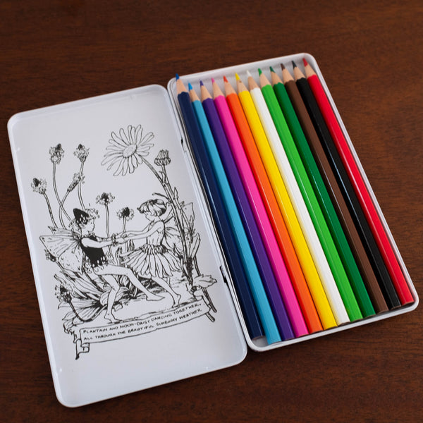 Flower Fairy Colored Pencils Tin Set