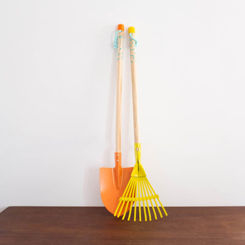 Garden Rake and Shovel Set