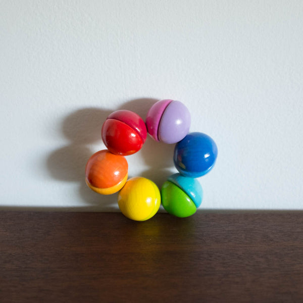 Rainbow Ring Rattle Toy