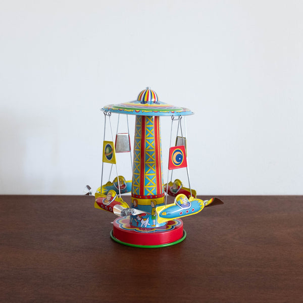 Rocket Ride Carousel Tin Toy
