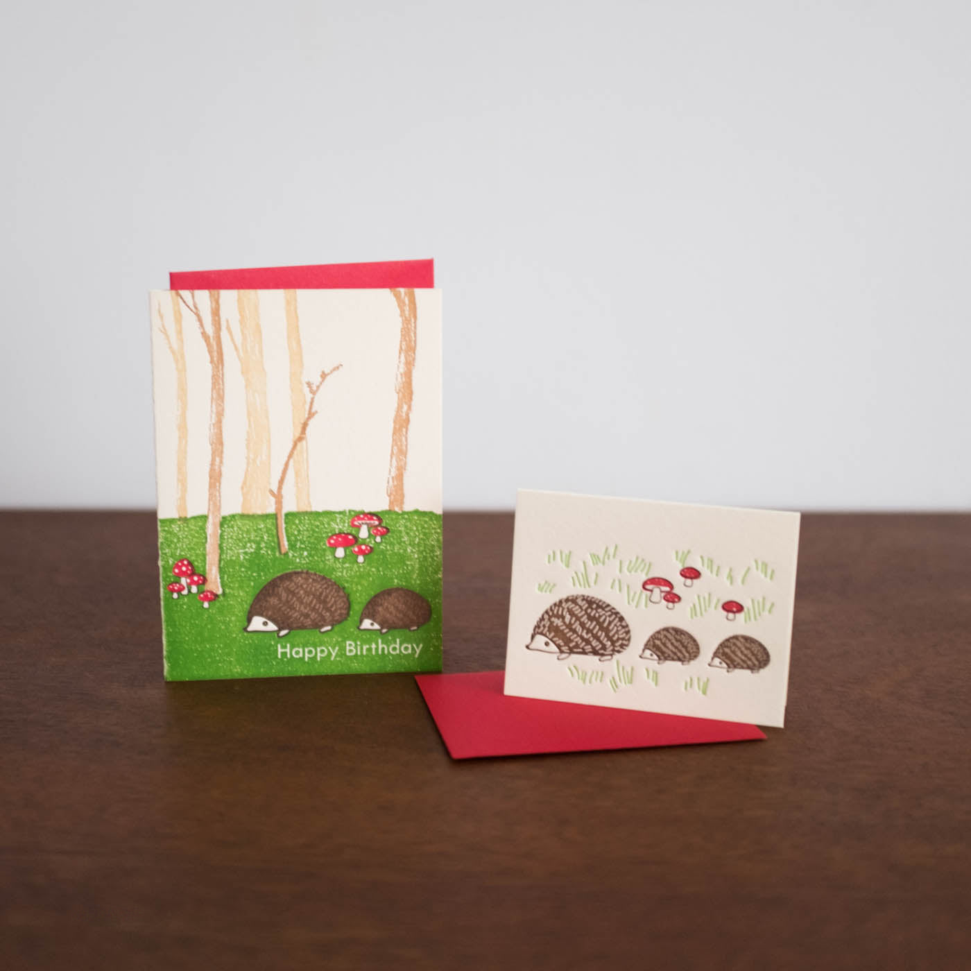 Hedgehogs Blank Mini Card