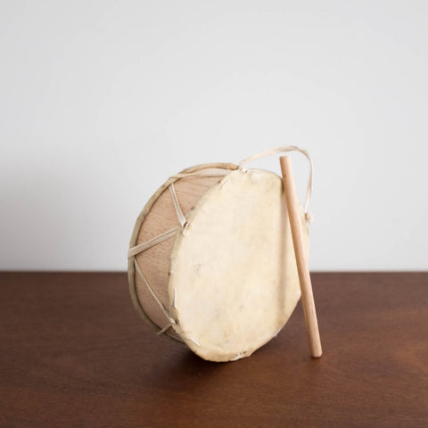 Peruvian Wooden Drum Toy- Small