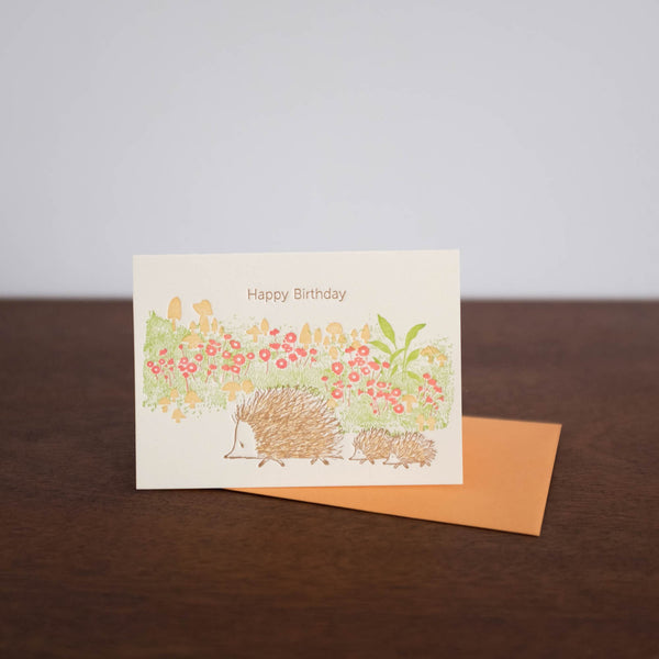 Hedgehogs Happy Birthday Card