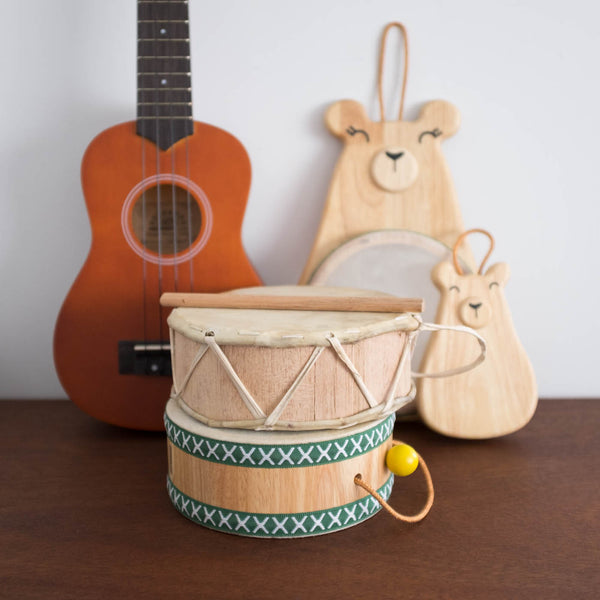 Mama Bear Wooden Drum Toy