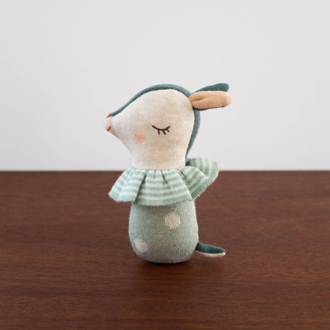 Bambi Deer Rattle- Dusty Green