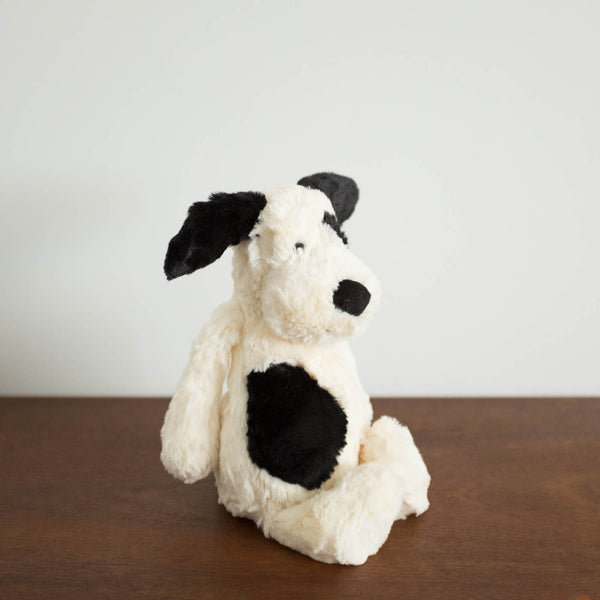 Bashful Black and Cream Puppy Doll- Medium