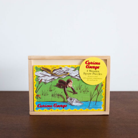 Curious George- 4 in 1 Jigsaw Puzzle Set
