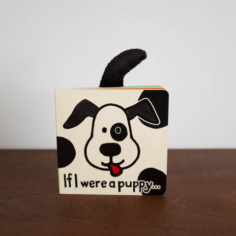 Bashful Black and Cream Puppy Book