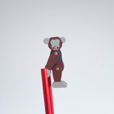 Trapeze Monkey Wooden Toy