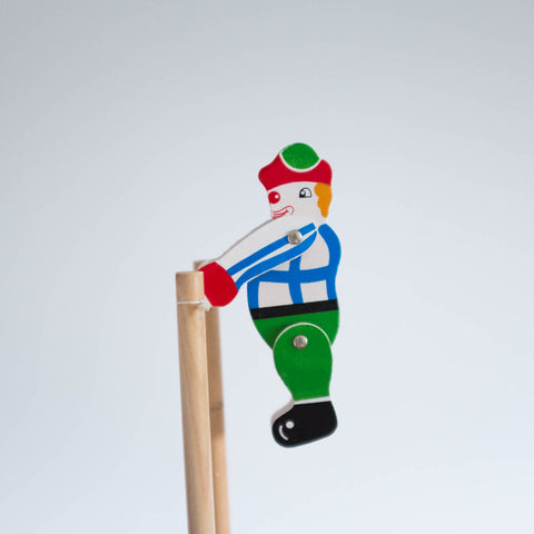 Trapeze Clown Wooden Toy