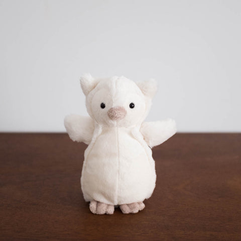 Bashful Cream Owl- Small