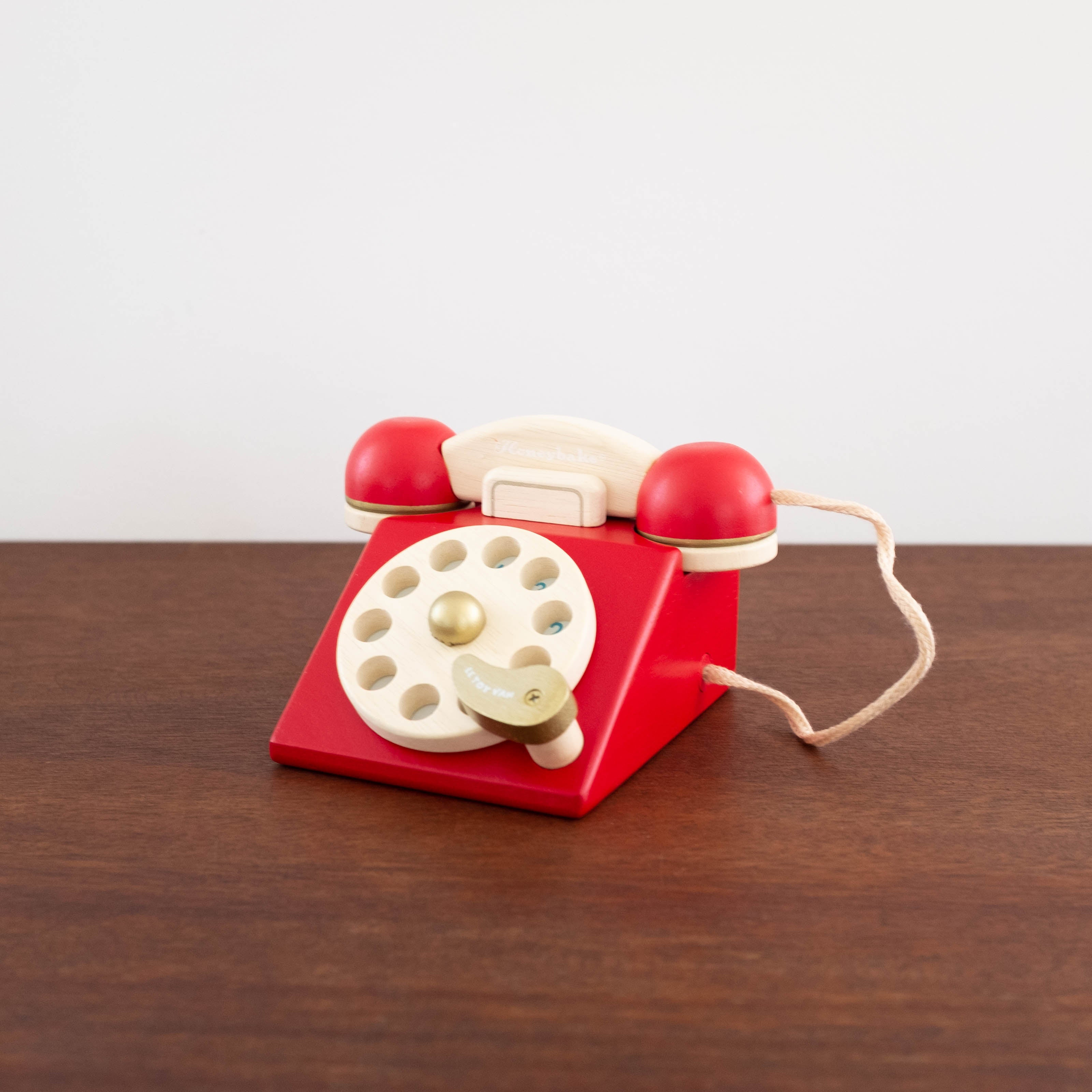 Wooden Vintage Telephone Toy