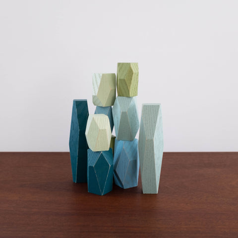 Colored Balancing Blocks- Ocean