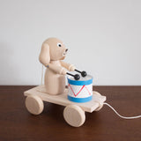 Wooden Dog with Drum Pull Toy