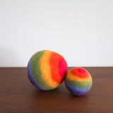 Rainbow Wool Felt Balls- Set of Two