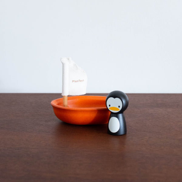 Sailing Boat with Penguin Toy