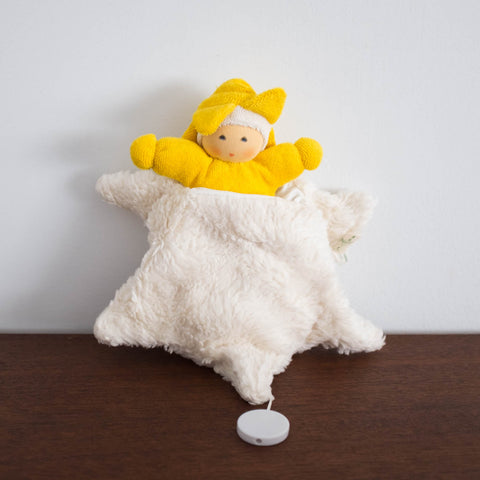 Nanchen Cuddle Doll with Musical Sleeping Sack Toy