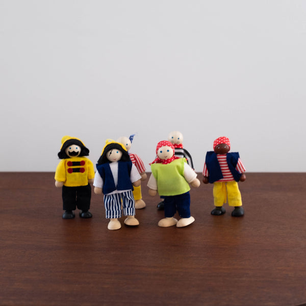 Pirate Bendable Doll Set