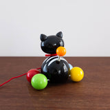 Minou Wooden Cat Pull Toy