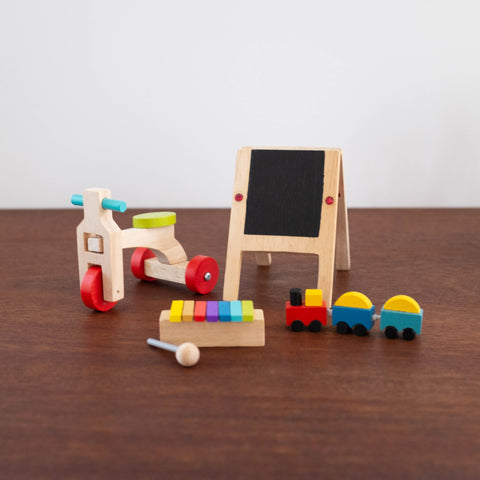 Wooden Doll Accessory Set: Play Time