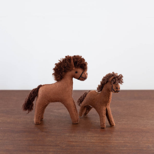 Felt Animals: Small Brown Horse