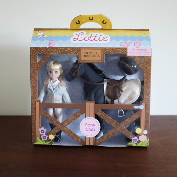 Lottie Doll- Pony Club Doll and Horse Set