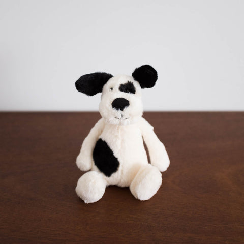 Bashful Black and Cream Puppy- Small