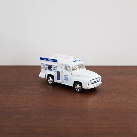 Die Cast Metal Pull Back Cars: 1956 Ford Pickup Ice Cream Truck