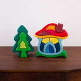 Mushroom Wooden Stacking Toy