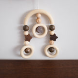 Wooden Stroller Trapeze Teether Clip- Moon and Stars