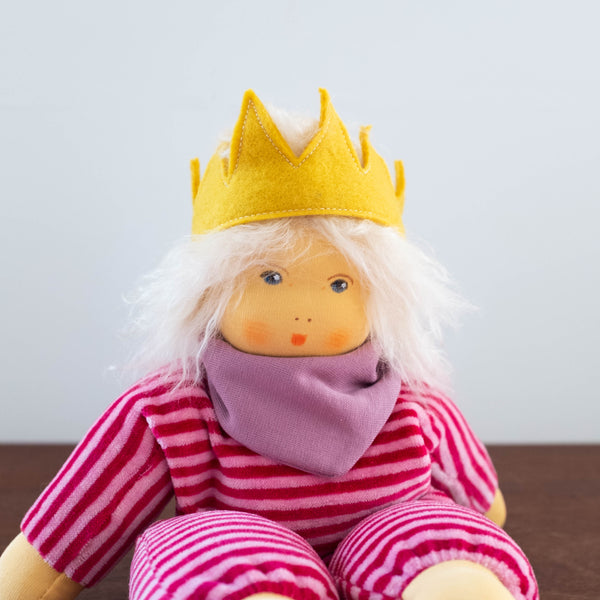 Nanchen Baby Girl Doll- Blonde Hair with Crown