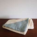 Geo Burp Cloth- Blue