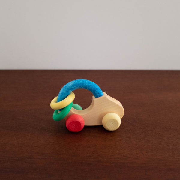 Bio Organic Wooden Car Rattle Toy