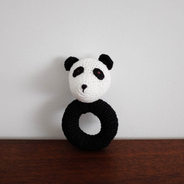 Panda Organic Crochet Rattle Toy