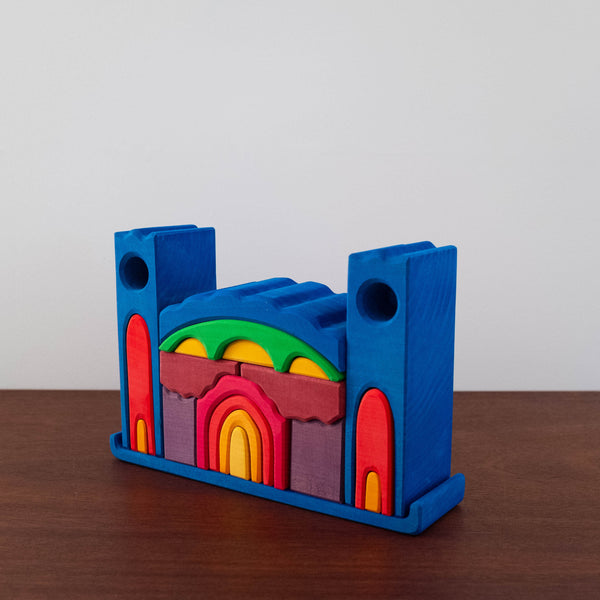 Large Castle Wooden Stacking Toy