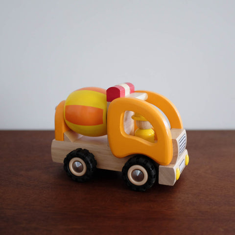 Wooden Yellow Cement Truck