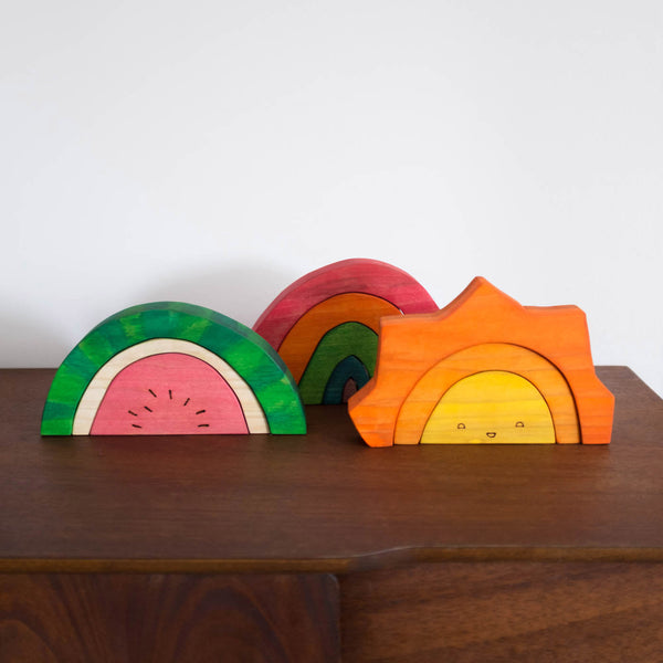 Waldorf Wood Rainbow Stacker Toy