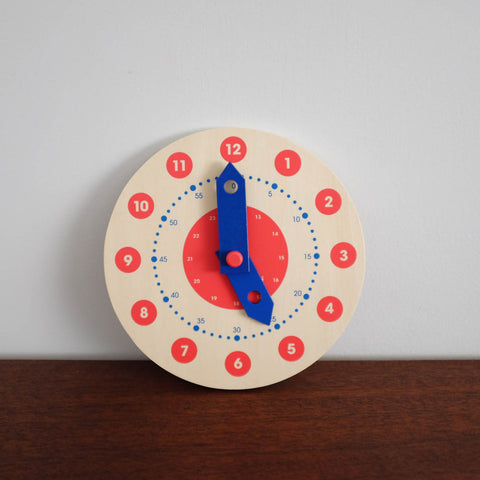 Learn to Tell Time Wooden Clock