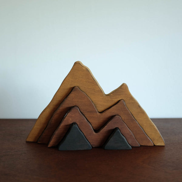 Large Wooden Mountain Stacker Toy