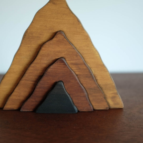 Small Wooden Mountain Stacker Toy