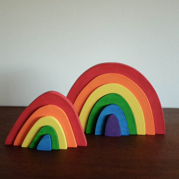 Small Rainbow Wooden Stacker Toy