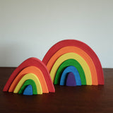 Large Rainbow Wooden Stacker Toy