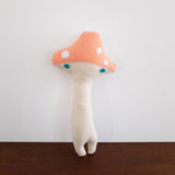 Mushroom Pillow Doll- Coral Pink Short Top Large