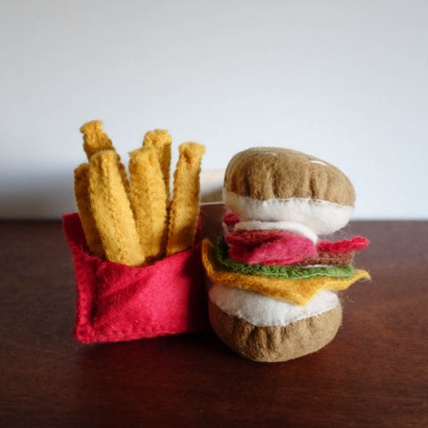 Wool Felt: Burger and Fries Box Set