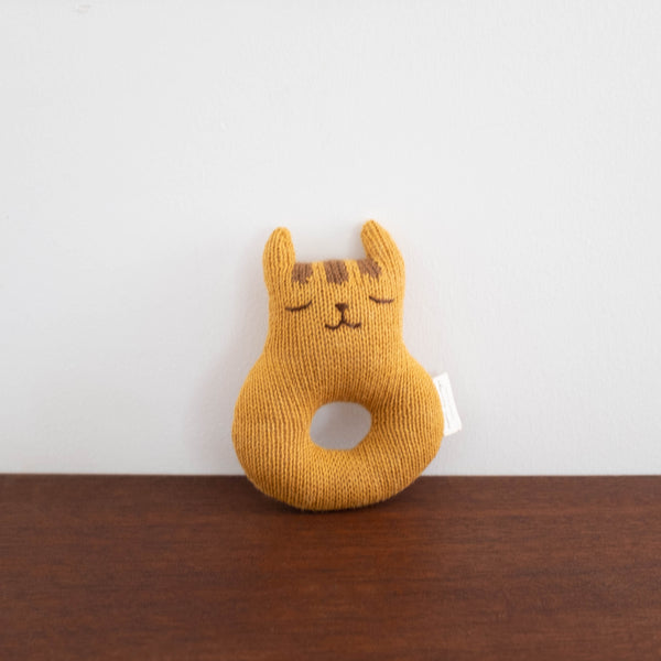 Tiger Knit Rattle Toy
