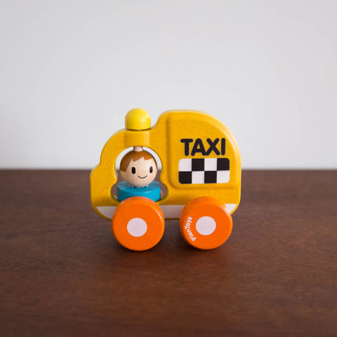 Little Wooden Taxi Toy