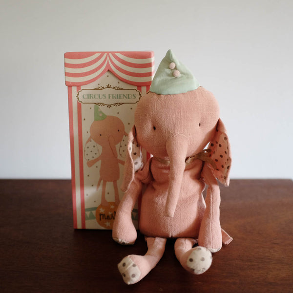 Circus Friends Elephant in Hat- Rose
