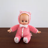 Petit Bebe Doll- Pink Kitty Cat