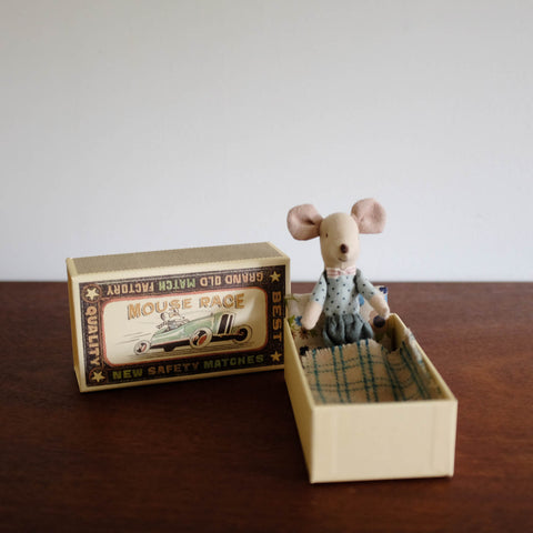 Big Brother Brown Plaid Mouse in a Box